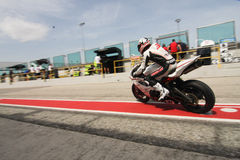 Alex Baldolini Triumph Daytona 675 Power Suriano Royalty Free Stock Image