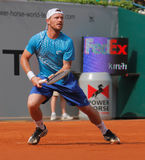 Alex Bogomolov of Russia, Tennis  2012. 2012 World Team Cup. This photo shows Russian player Alex Bogmolov during his singles match with Janko Tipsarevic of the Royalty Free Stock Images