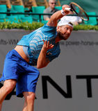 Alex Bogomolov of Russia, Tennis  2012. 2012 World Team Cup. This photo shows Russian player Alex Bogmolov during his singles match with Janko Tipsarevic of the Royalty Free Stock Photo