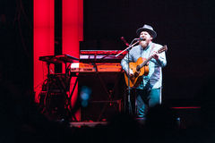 Alex Clare performing live in Moscow Stock Image