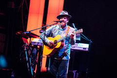 Alex Clare performing live in Moscow Stock Photography