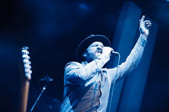 Alex Clare performing live in Moscow Stock Photos