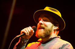 Alex Clare performing live in Moscow Royalty Free Stock Photography