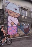 Alex Face - arte tailandesa da rua - Phuket Fotografia de Stock