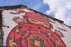 Alex Face - arte tailandesa da rua - Phuket Imagem de Stock