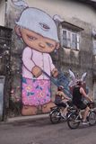 Alex Face - arte tailandese della via - Phuket Fotografia Stock