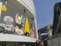 Alex Face - thailändische Straßen-Kunst stockbild