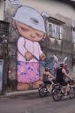 Alex Face - thailändische Straßen-Kunst - Phuket stockfoto