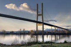 Alex Fraser Bridge, Britisch-Columbia Lizenzfreie Stockbilder