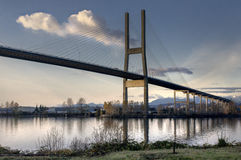Alex Fraser Bridge British Columbia Royaltyfria Bilder