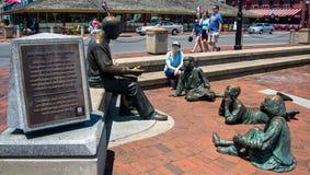 Alex Haley Statue en Annapolis Foto de archivo