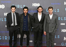 Alex Karpovsky, Christopher Abbott, gestionnaire d'Adam, Andrew Rannells Photos stock