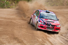 Alex Kononov drives a  Mitsubishi Stock Image