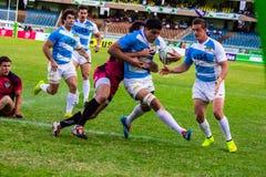 Alex Muller van Argentinië in Safaricom Sevens 2014 royalty-vrije stock foto's