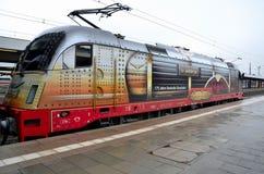 Niemiecki elektrycznego pociągu lokomotoryczny silnik Monachium Niemcy Zdjęcia Stock