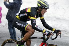 Alex Norberto Cano Ardila rise in Terminilo Royalty Free Stock Photos