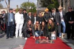 Alex Orbison, Barbara Orbison, Chris Isaak, Dan Aykroyd, Eric-Leerlauf, Jeff Lynne, Joe Walsh, Phil Everly, Roy Orbison stockfotos