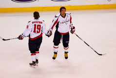 Alex Ovechkin and Nicklas Backstrom, Washington Capitals Royalty Free Stock Photos