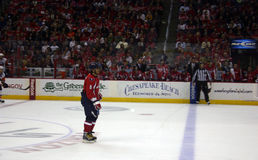 Alex Ovechkin of the Washington Capitals. Washington, DC, October 30, 2009: Alex Ovechkin of the Washington Capitals skates across the ice during a game against Stock Image