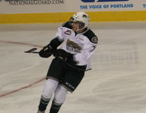 Alex Overhardt playing for Everett Silvertips Stock Images