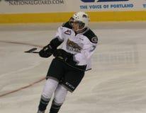 Alex Overhardt que juega para Everett Silvertips Imagenes de archivo
