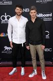 Alex Pall and Andrew Taggart of The Chainsmokers. At the 2018 Billboard Music Awards held at the MGM Grand Garden Arena in Las Vegas, USA on May 20, 2018 royalty free stock photos