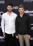 Alex Pall and Andrew Taggart of The Chainsmokers. At the 2018 Billboard Music Awards held at the MGM Grand Garden Arena in Las Vegas, USA on May 20, 2018 royalty free stock photography