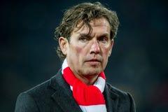 Alex Pastoor-Trainertrainer von Sparta Stockbild