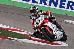 Alex Polita - Ducati 1098R - Rennend Team Barni Stock Fotografie