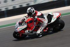 Alex Polita - Ducati 1098R - Rennend Team Barni Stock Foto's