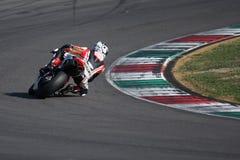 Alex Polita - Ducati 1198R - corsa di Barni immagine stock libera da diritti