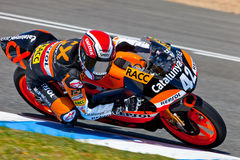 Alex Rins pilot of 125cc  of the CEV Championship Royalty Free Stock Image