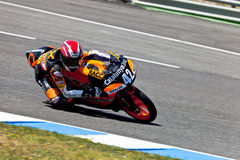 Alex Rins pilot of 125cc  of the CEV Championship Royalty Free Stock Photo