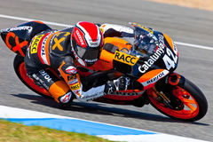 Alex Rins pilot of 125cc  of the CEV Championship Royalty Free Stock Photos