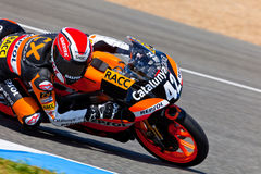 Alex Rins pilot of 125cc  of the CEV Championship Royalty Free Stock Photography