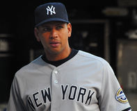 Alex Rodriguez, de Yankees van New York Stock Foto's
