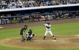 Alex Rodriguez on the home plate Royalty Free Stock Images