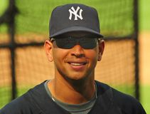 Alex Rodriguez, Yankees de New York Images stock