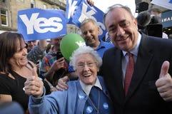 Alex Salmond die in 2014 Indy Ref een campagne voeren Royalty-vrije Stock Foto