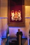 Alex Salmond die toespraak geven in Stirling Castle Scotland Stock Foto