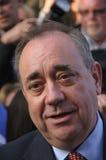 Alex Salmond durante la referencia 2014 de Indy Imagen de archivo libre de regalías