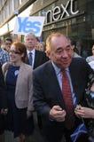 Alex Salmond durante la referencia 2014 de Indy Imagenes de archivo