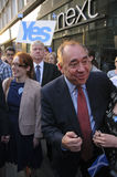 Alex Salmond in 2014 Indy Ref Stock Afbeeldingen