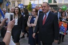 Alex Salmond op de Schotse Campagne 2014 van Indy Ref Royalty-vrije Stock Afbeelding