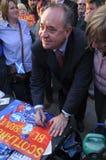 Alex Salmond pendant la référence écossaise 2014 d'Indy Photo libre de droits