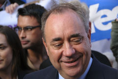 Alex Salmond Scottish Indy Ref 2014 Lizenzfreies Stockbild