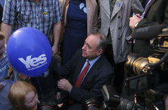 Alex Salmond Scottish Indy Ref 2014 Lizenzfreies Stockfoto