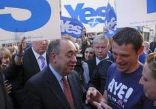 Alex Salmond Scottish Indy Ref Perth Scozia Regno Unito 2014 Immagine Stock Libera da Diritti