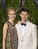 Alex Sharp at 2015 Tony Awards. American actress Wallis Currie Wood and British actor Alex Sharp, both Juilliard School graduates, arrive on the red carpet for Stock Photography