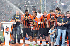 Alex Teixeira and champagne Stock Photo